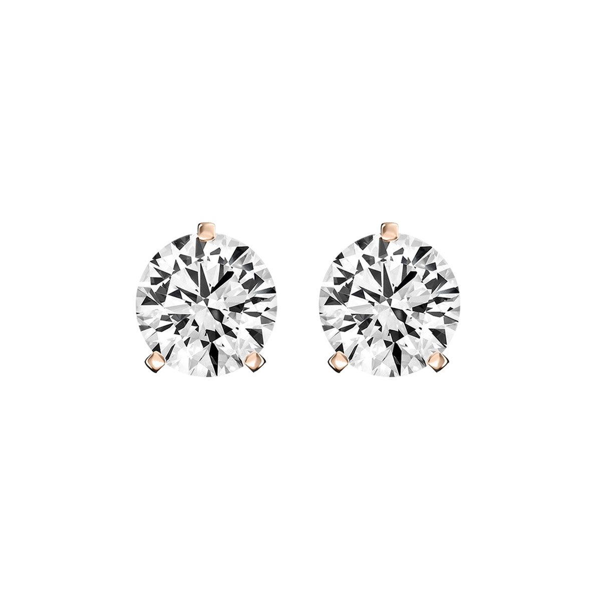 14K Rose Gold Diamond Stud Earrings ( 1/5 ct. tw)