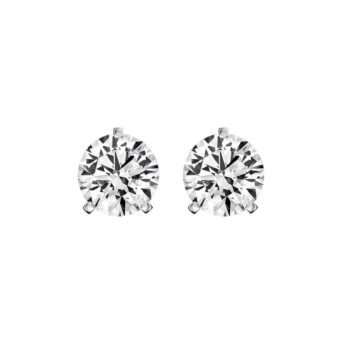 14K White Gold Diamond Stud Earrings ( 1/5 ct. tw)