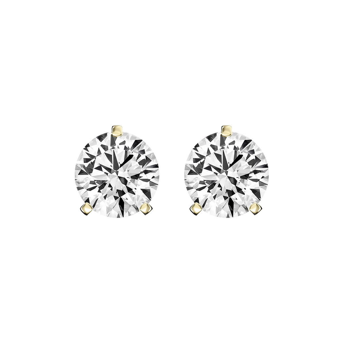 14K Yellow Gold Diamond Stud Earrings ( 1/4 ct. tw)