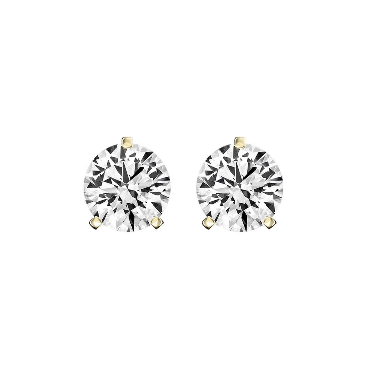 14K Yellow Gold Diamond Stud Earrings ( 1/5 ct. tw)
