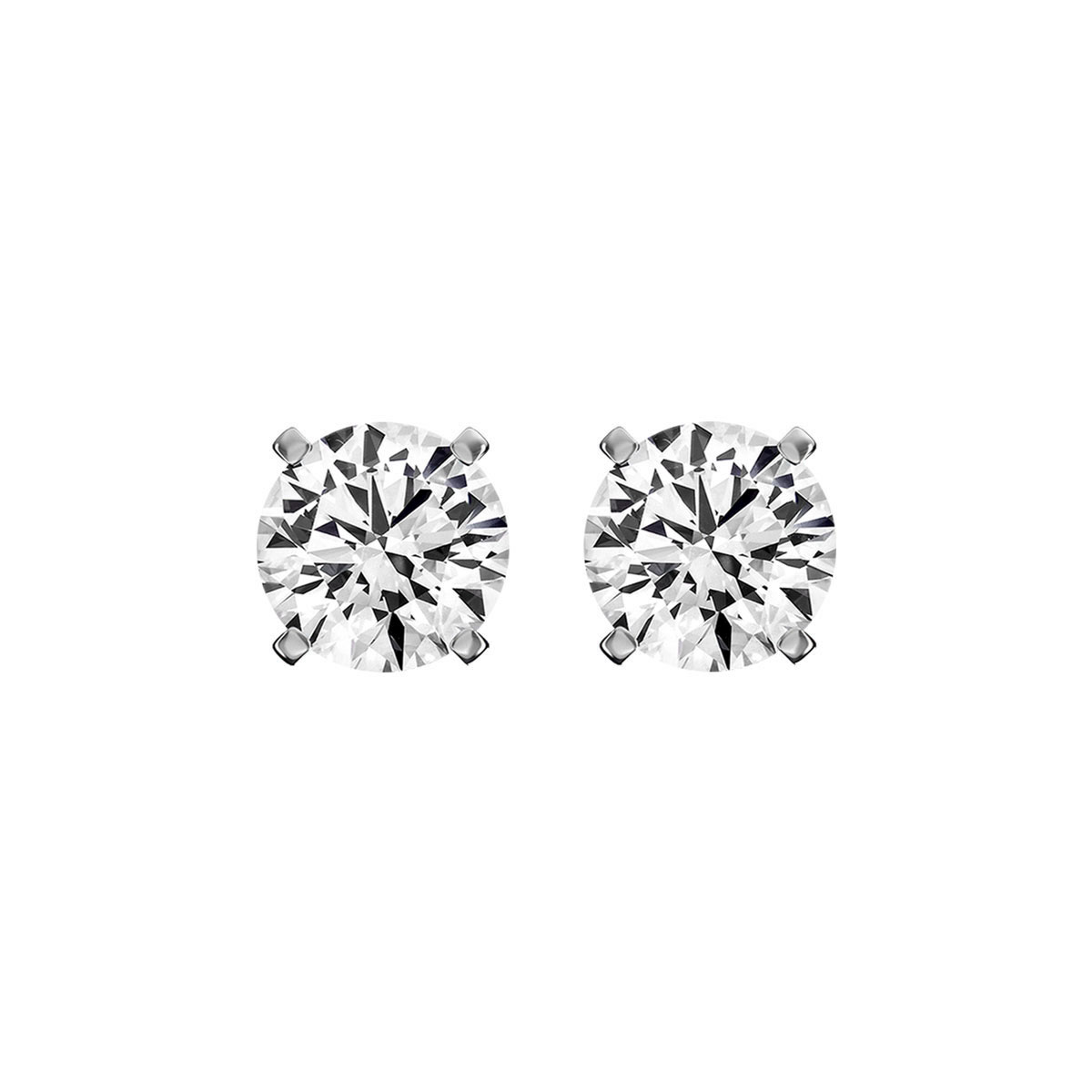 14K White Gold Diamond Stud Earrings ( 1/5 ct. tw)