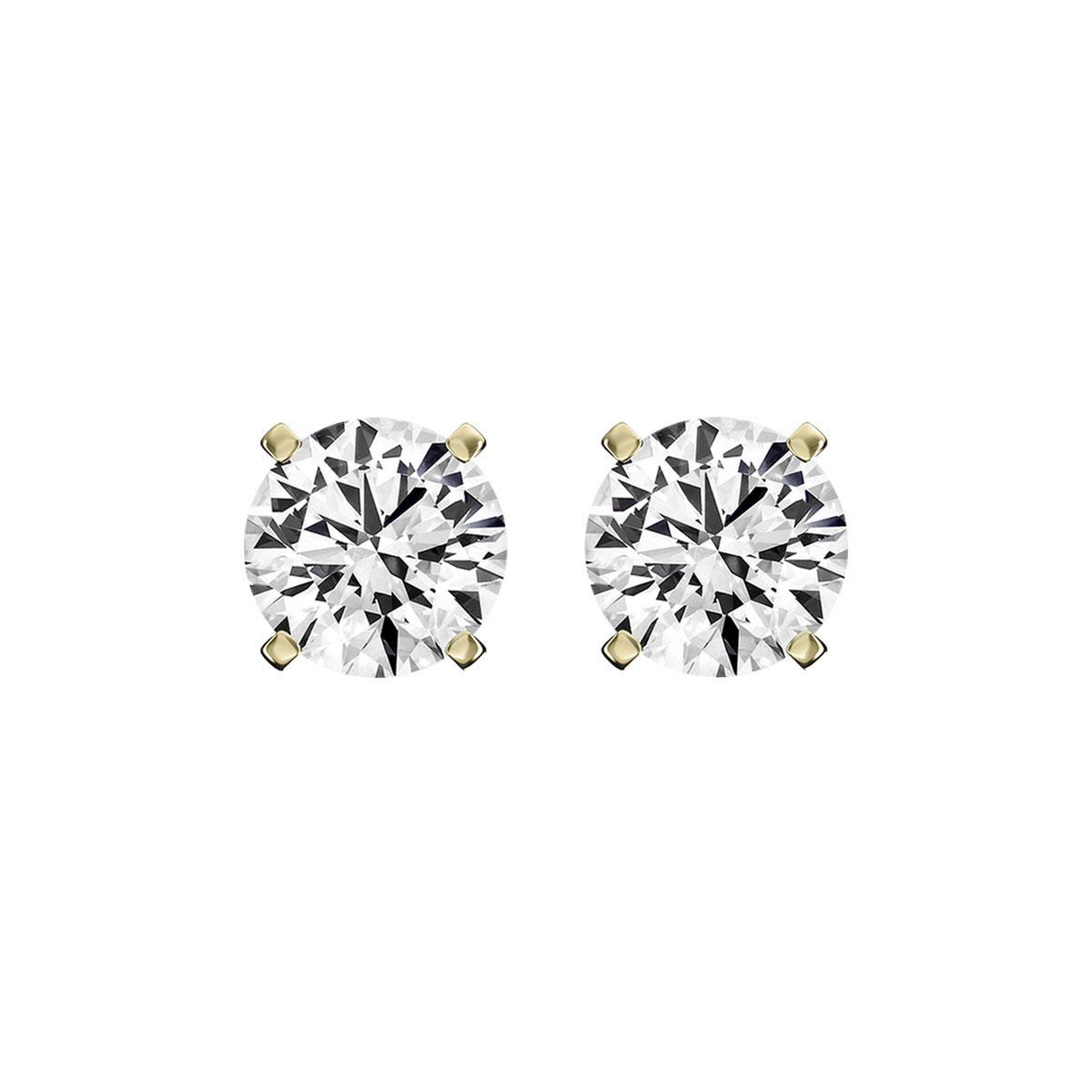 14K Yellow Gold Diamond Stud Earrings ( 1/4 ct. tw)