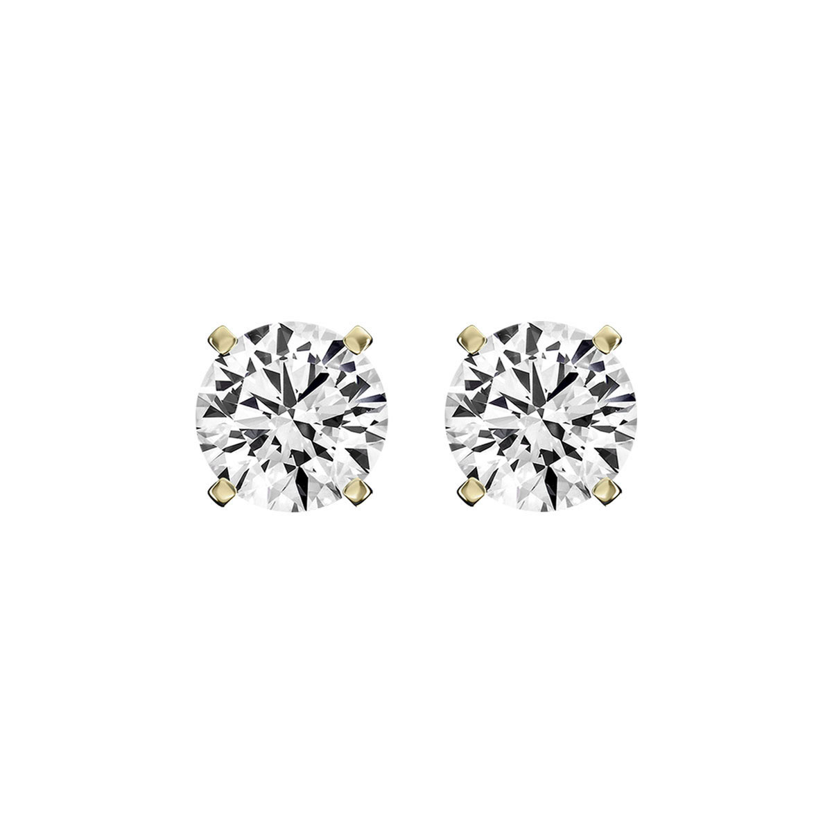 14K Yellow Gold Diamond Stud Earrings ( 1/5 ct. tw)