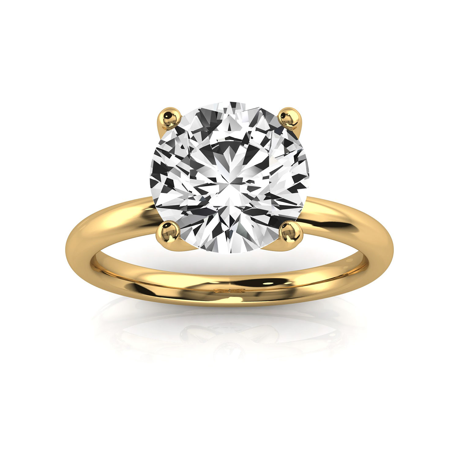 14K Yellow Gold Marina Solitaire Ring