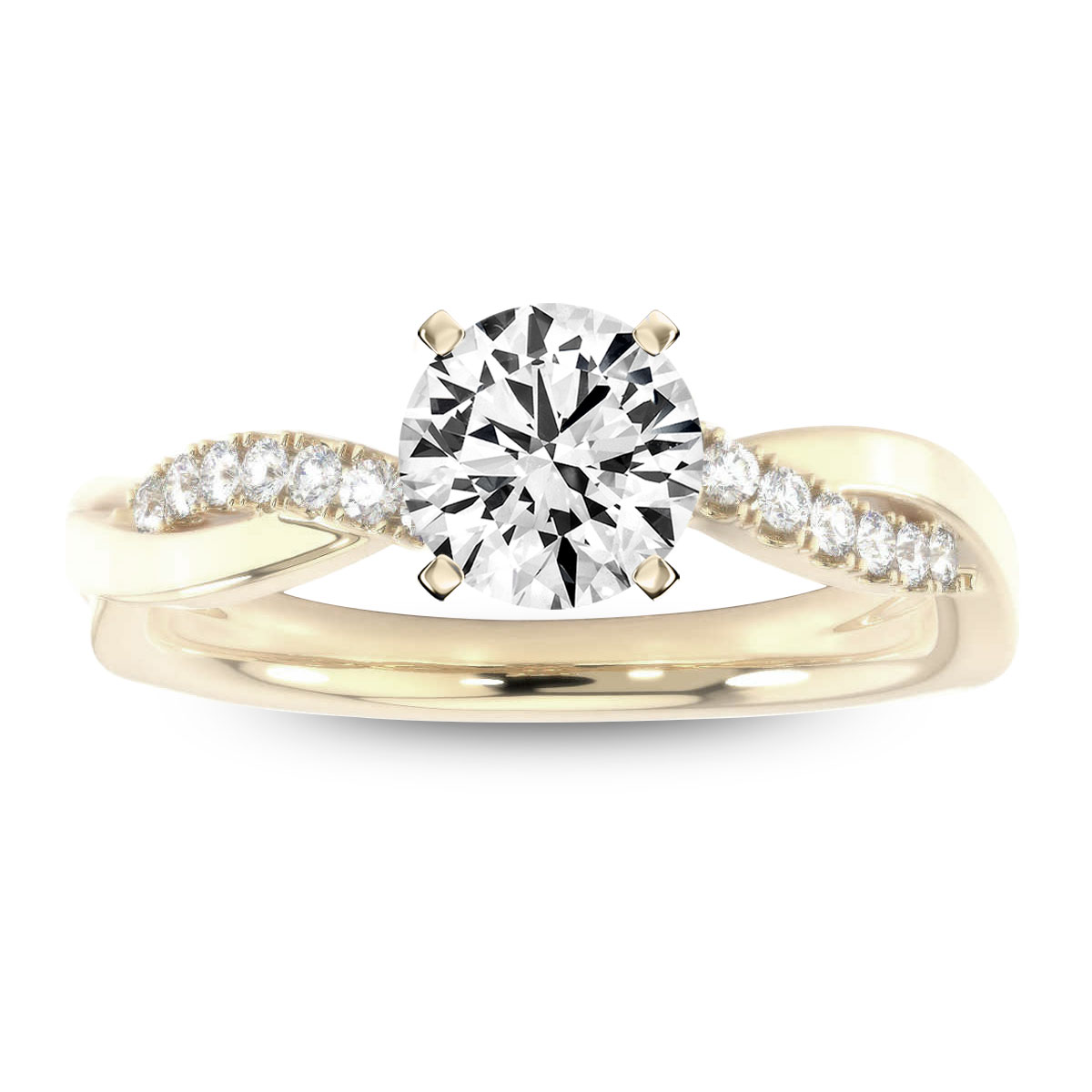 14K Yellow Gold Shani Diamond ring ( 1/7 ct. tw)