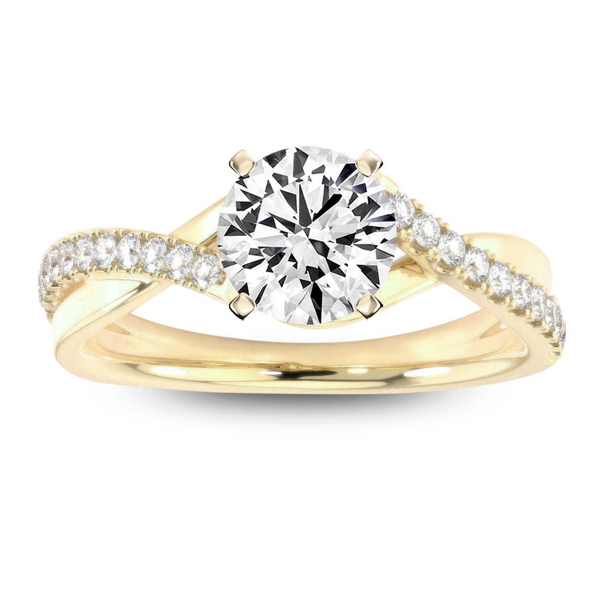 14K Yellow Gold Ilanit Diamond ring ( 1/4 ct. tw)