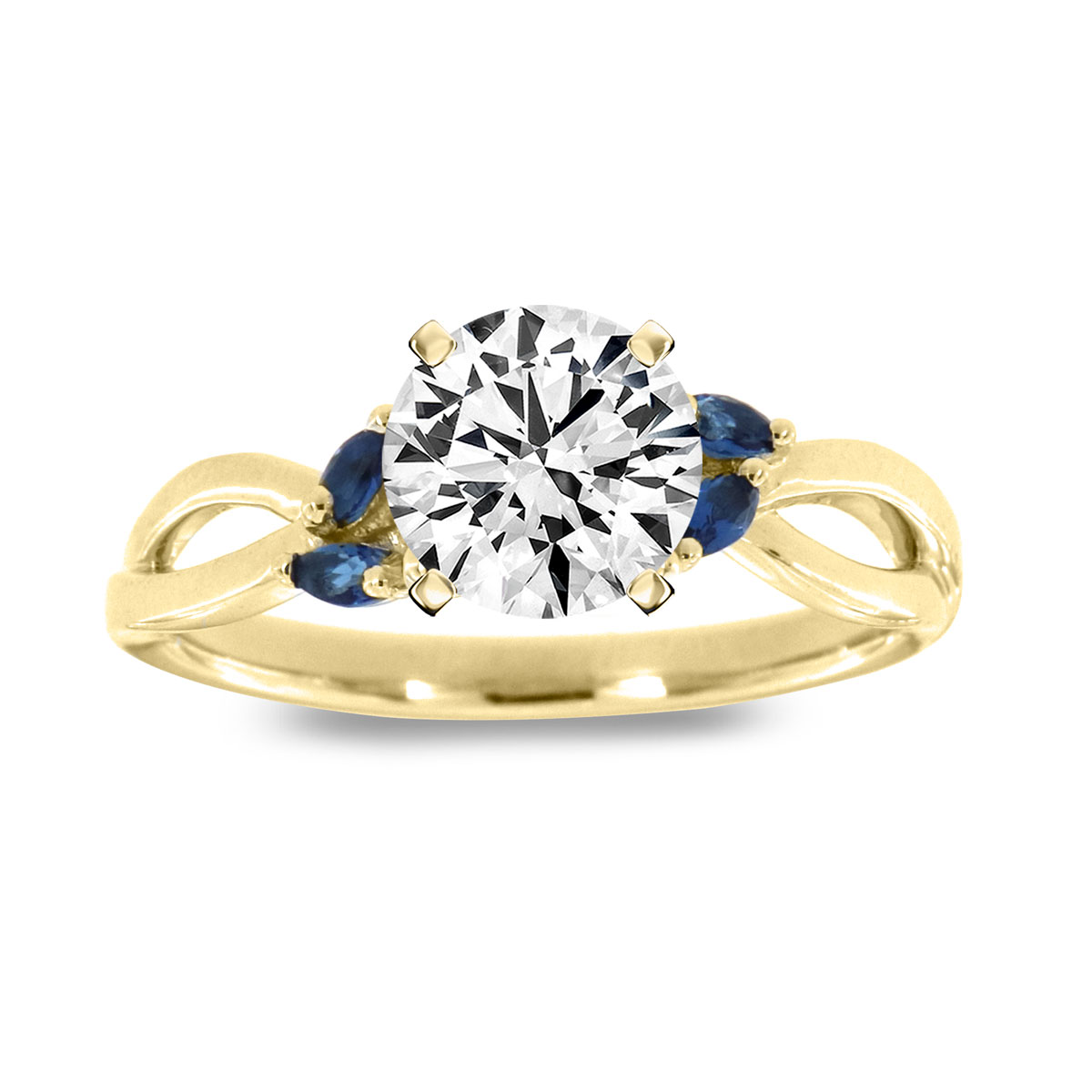 14k Yellow Gold Trish Sapphire Ring. ( 1/7 ct. tw)
