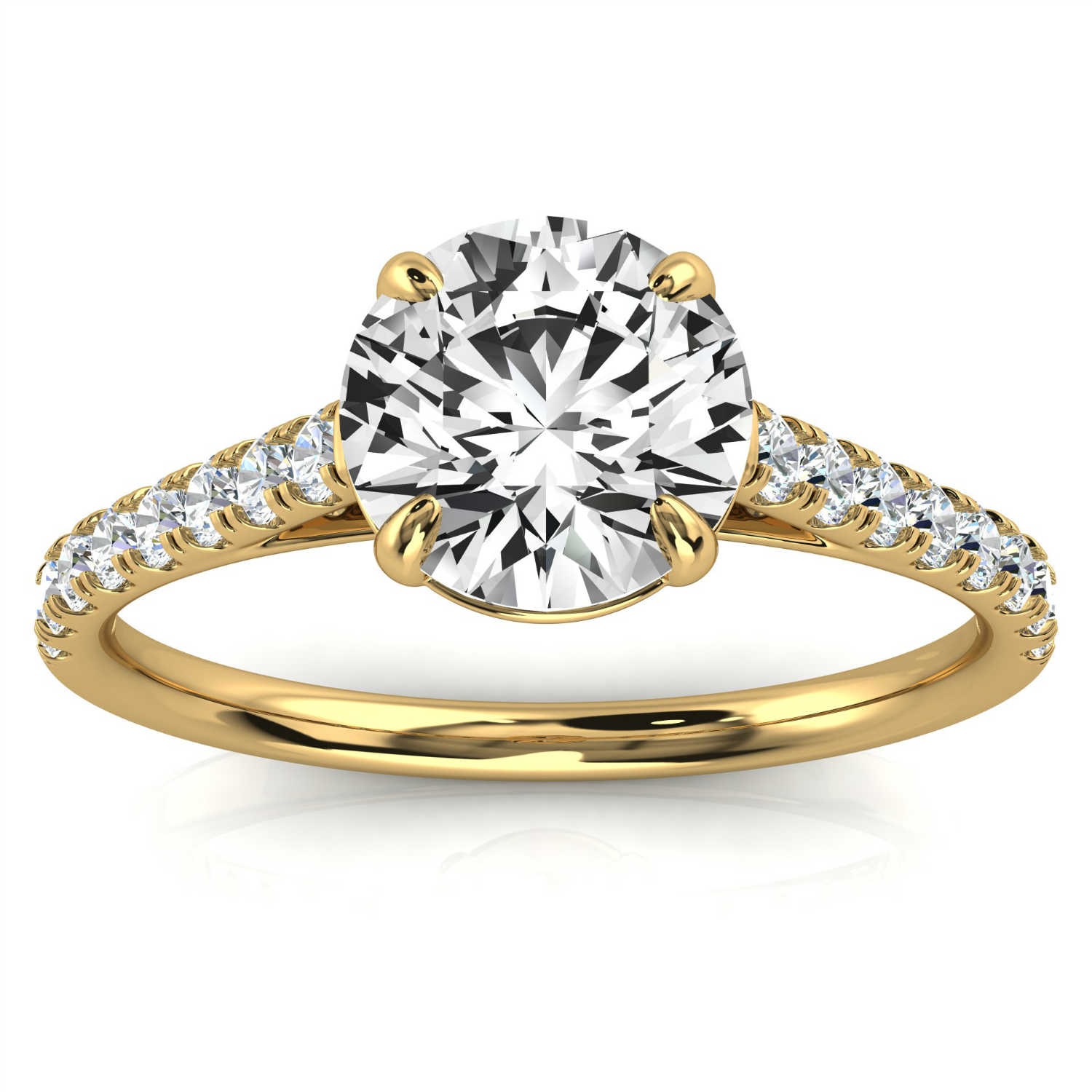 14K Yellow Gold Delicate Yaelle Micro-Prong Diamond Ring ( 1/5 ct. tw)