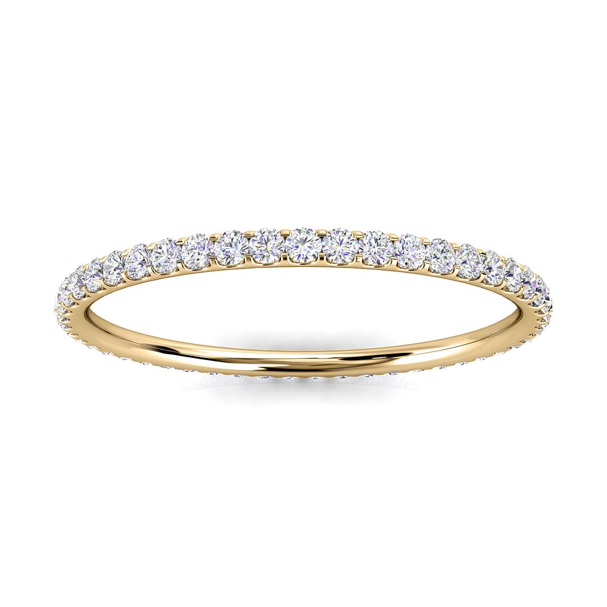 14K Yellow Gold Viola Petite Eternity Micro-Prong Diamond Ring (1/4 ct. tw)