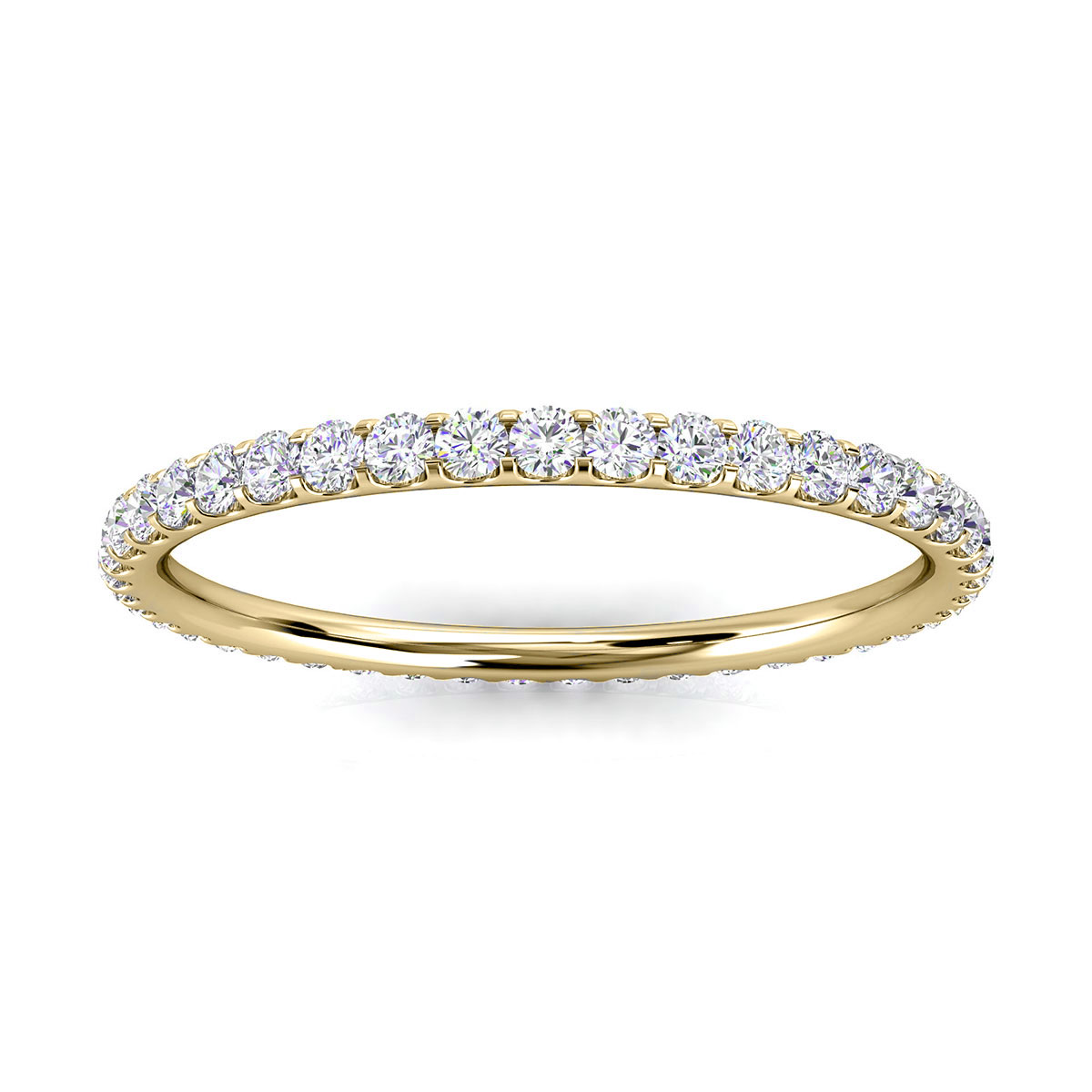 14K Yellow Gold Viola Mini Eternity Micro-Prong Diamond Ring (1/3 ct. tw)