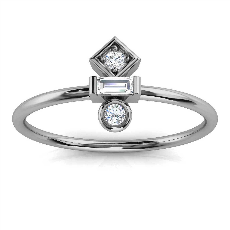 Platinum Tifane Minimalist Organic Design Diamond Ring ( 1/6 ct. tw)