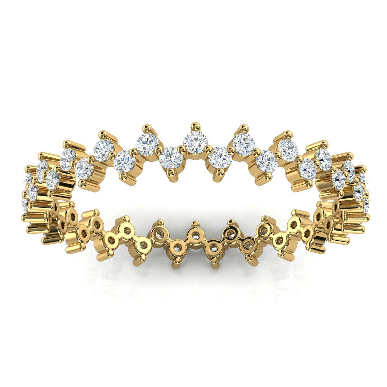 14K Yellow Gold Toni Organic Design Diamond Eternity Ring (2/5 ct. tw)