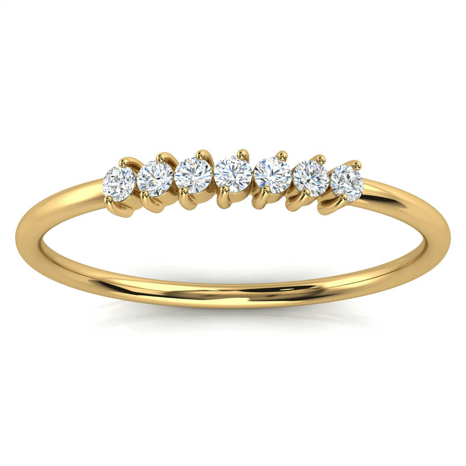 14K Yellow Gold Shelby Minimalist Organic Design Diamond Ring (1/10 ct. tw)