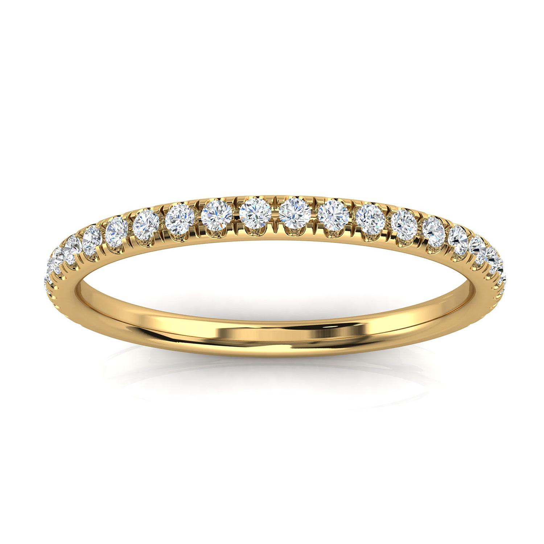 14K Yellow Gold Mercia Petite Micro-Prong Diamond Ring (1/6 ct. tw)
