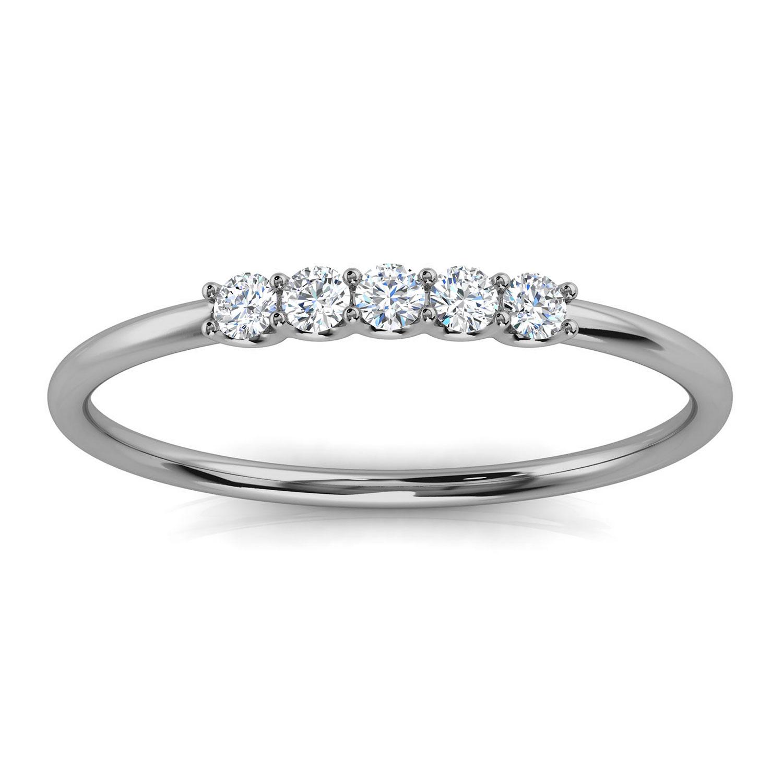 14K White Gold Sevilla Minimalist Diamond Ring ( 1/10 ct. tw)