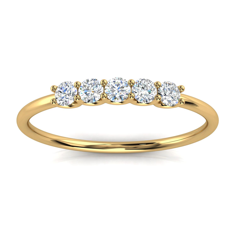 14K Yellow Gold Sevilla Petite Diamond Ring ( 1/5 ct. tw)