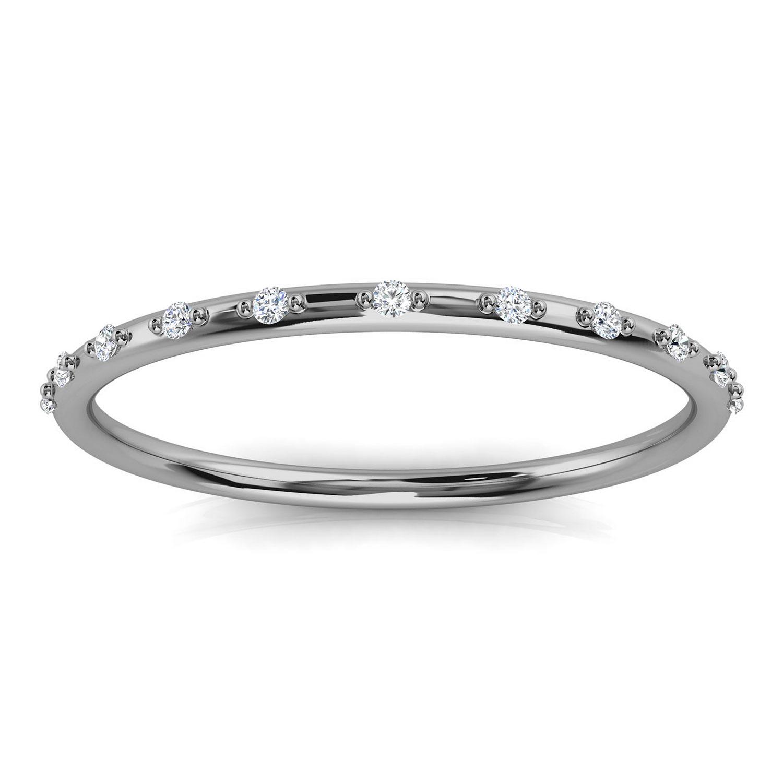 Platinum Dawn Minimalist Organic Design Diamond Ring (1/20 ct. tw.)