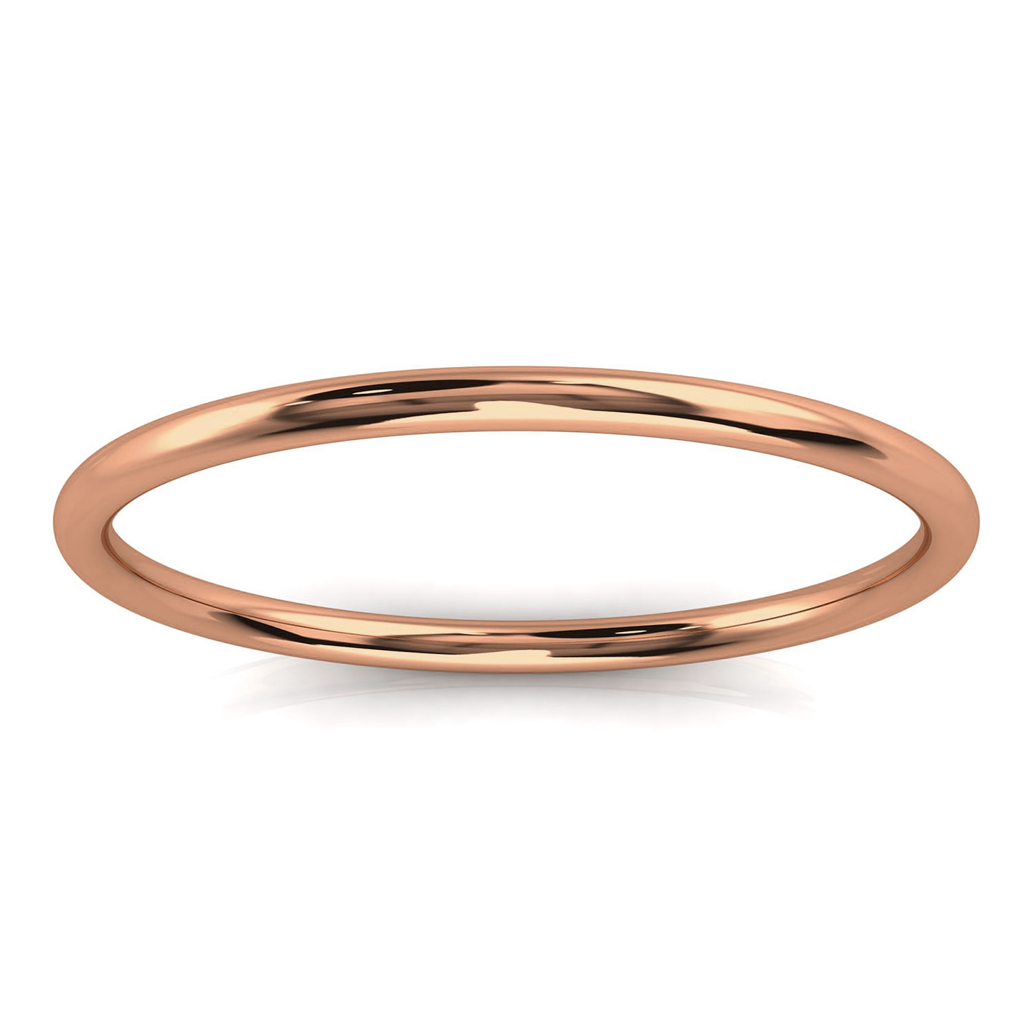14K Rose Gold Minimalist Plain Nora Band 1.2 MM Wide