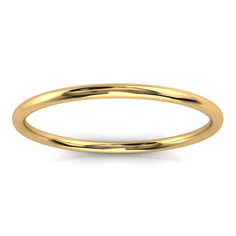 14K Yellow Gold Minimalist Plain Nora Band 1.2 MM Wide