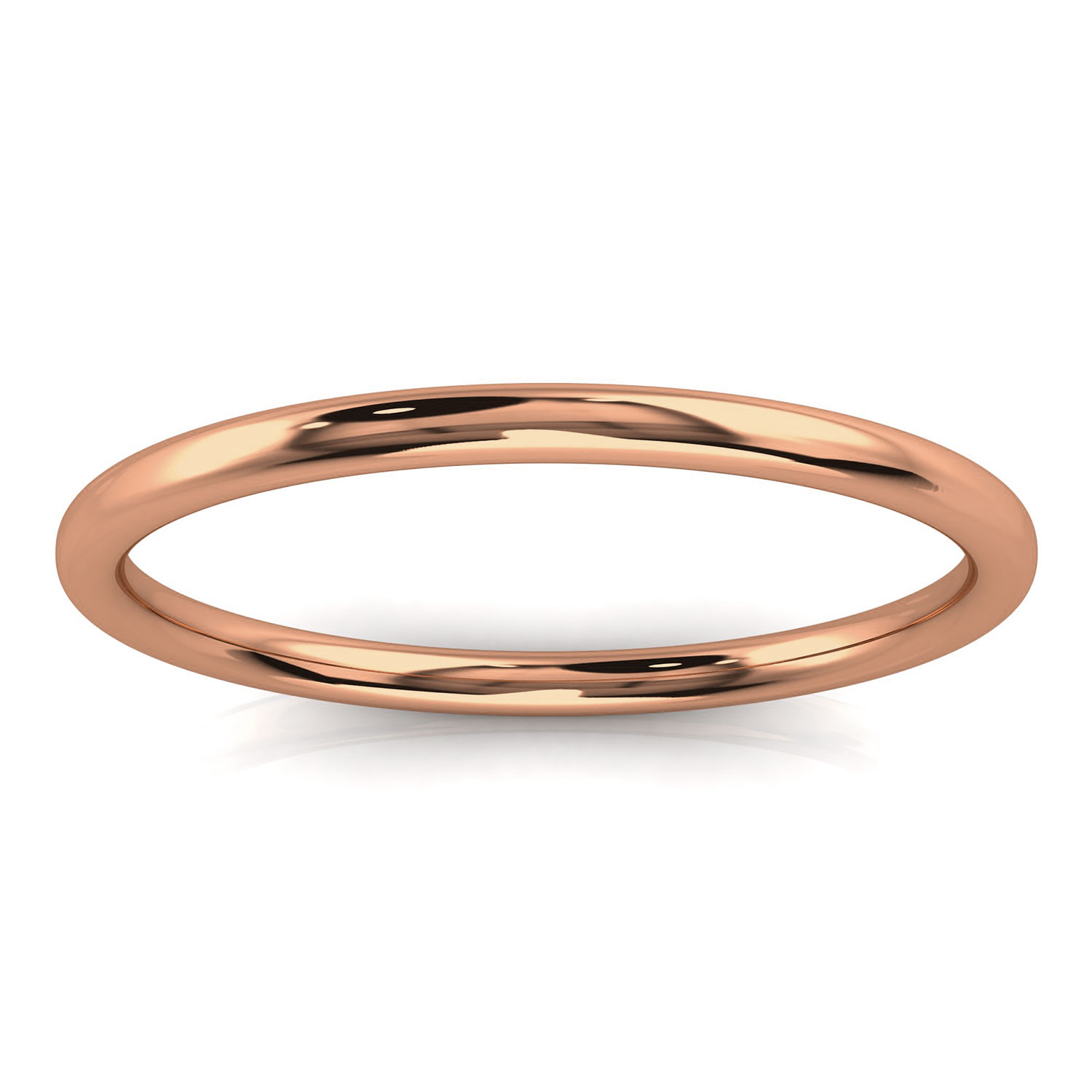 14K Rose Gold Plain Petite Nora Band 1.4 MM Wide