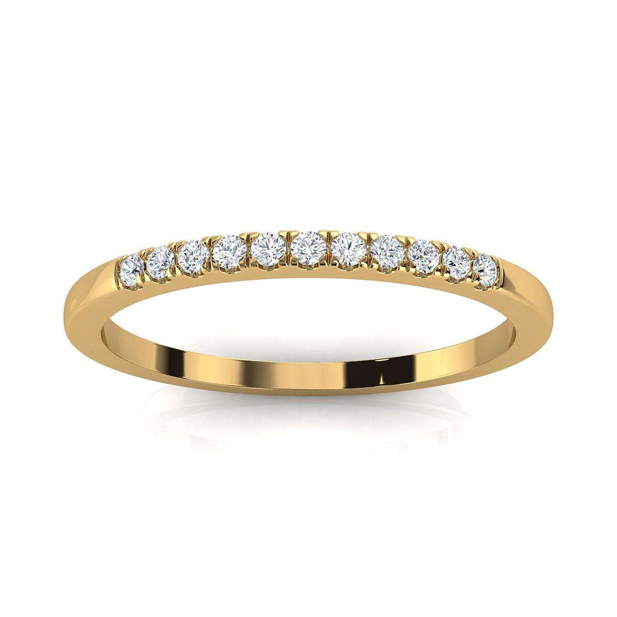 14K Yellow Gold Anilera Minimalist Diamond Ring ( 1/10 ct. tw)