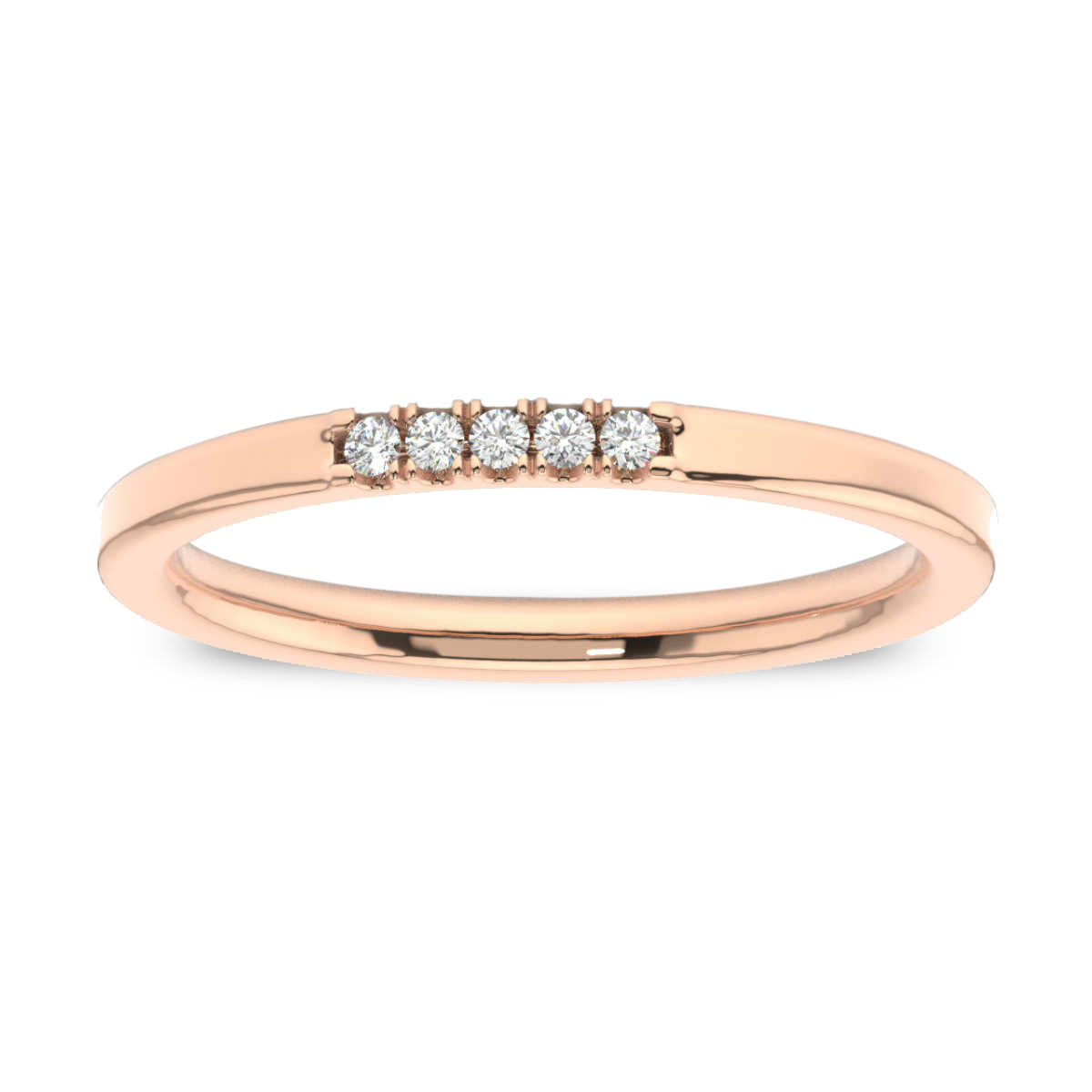 14K Rose Gold Gina Petite Stackable Diamond Ring (1/20 ct. tw)