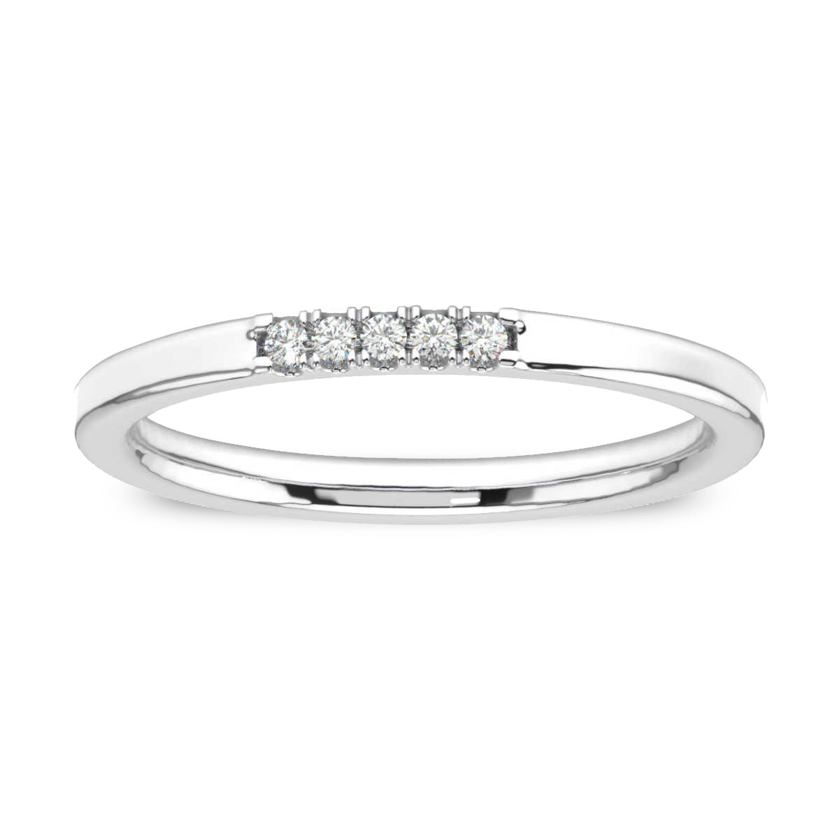 14K White Gold Gina Petite Stackable Diamond Ring (1/20 ct. tw)