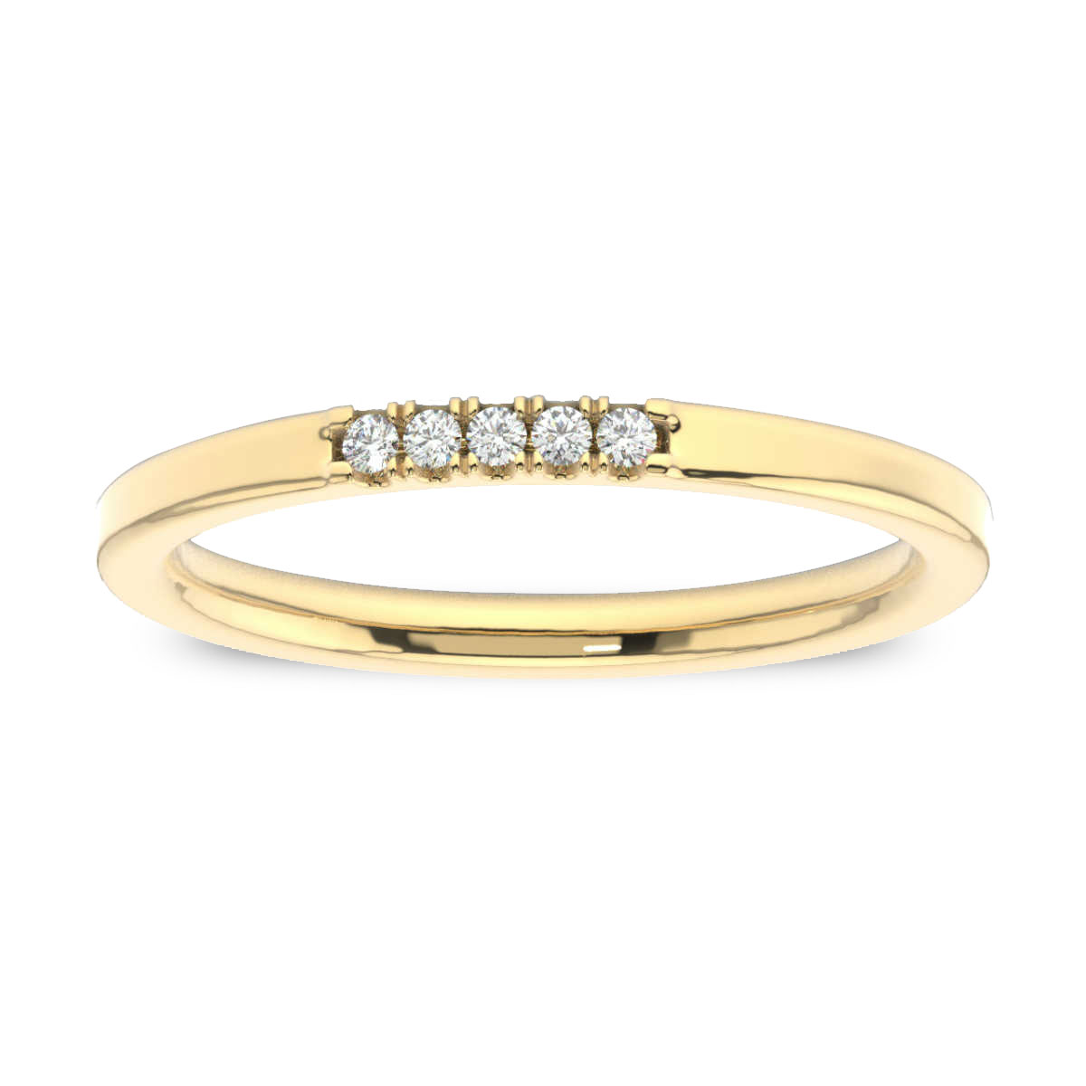 14K Yellow Gold Gina Petite Stackable Diamond Ring (1/20 ct. tw)