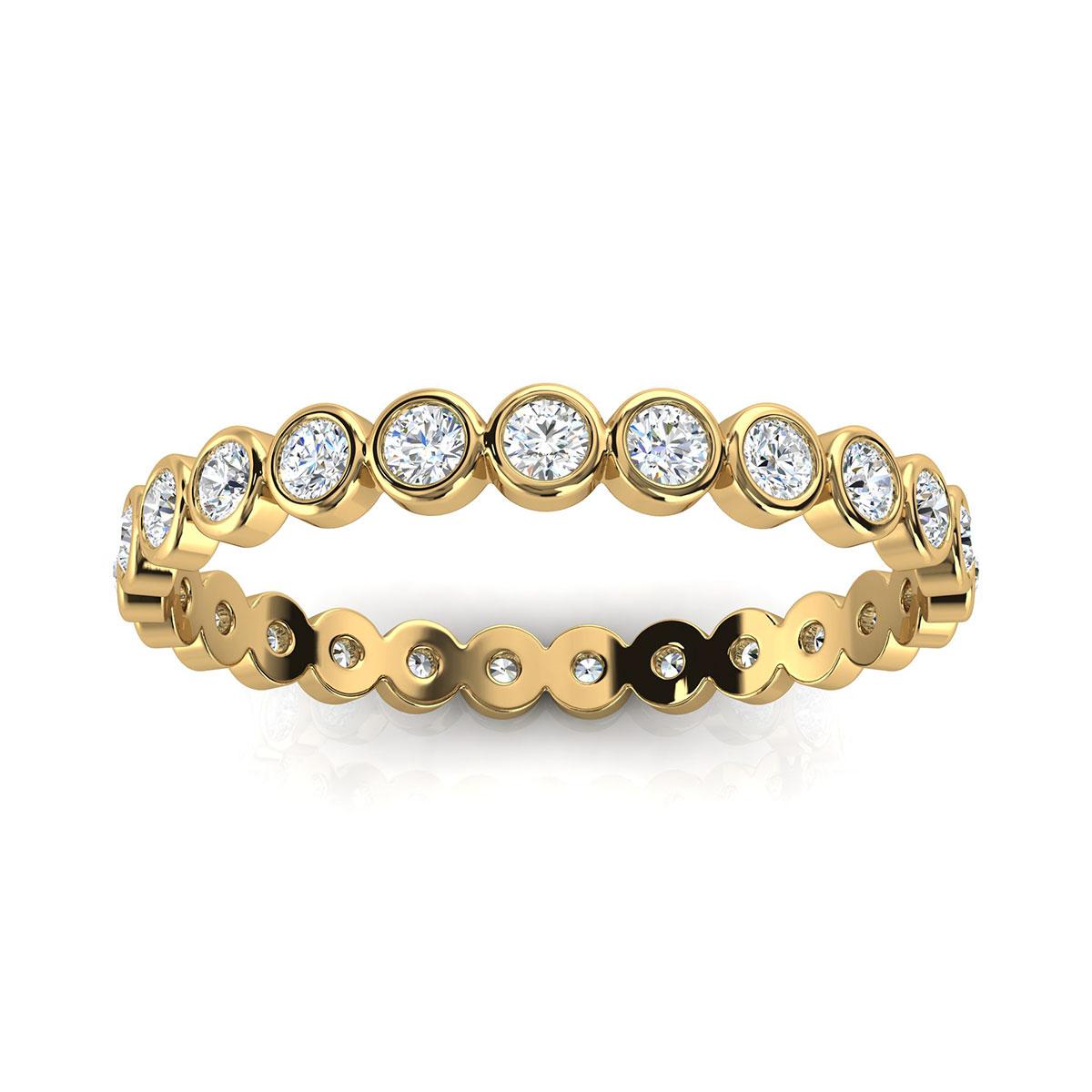14K Yellow Gold Petite Zivit Eternity Diamond Ring (1/2 ct.tw)