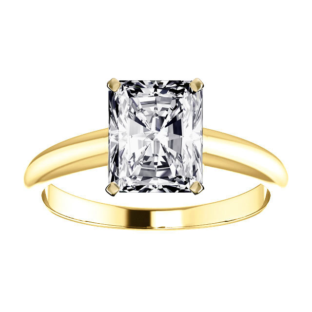 14K Yellow Gold Solitaire