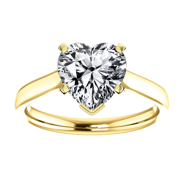 14K Yellow Gold  Petitie Solitaire