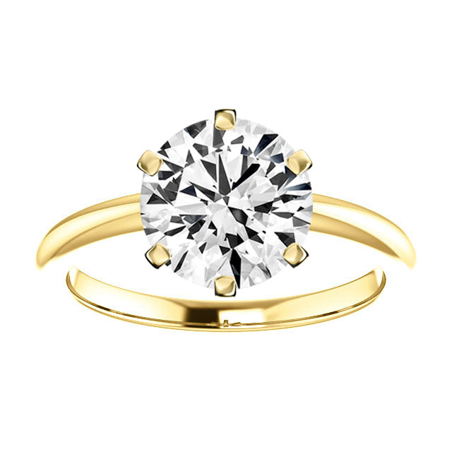 14K Yellow Gold Emily 2 mm Comfort Fit Solitaire