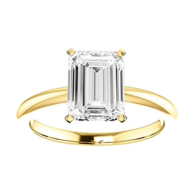 14K Yellow Gold 2MM Comfort Fit Solitaire