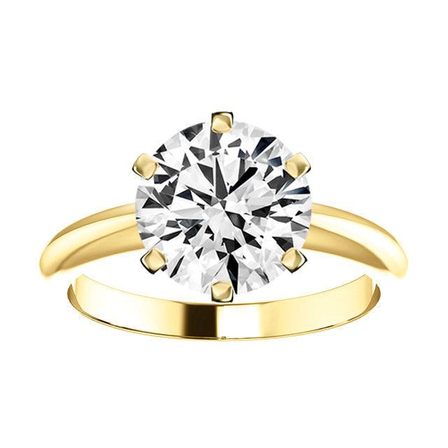 14K Yellow Gold 2MM Solitaire