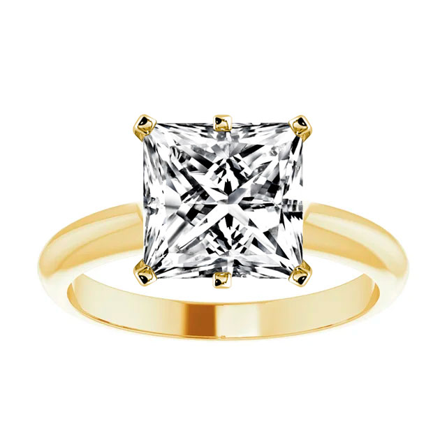 14K Yellow Gold Mika 2 mm Solitaire